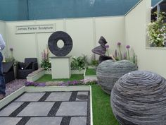 My favourite sculptor - James Parker and is the son of a farmer from Gallaway, Scotland - he works in slate. I want one!