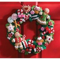 Cookies and Candy Bucilla Felt Applique Wreath