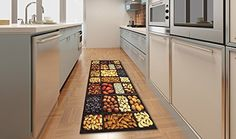 Tappeto cucina antiscivolo corsia stuoia per cucina KITCH SEMI 60X110 Kitchen Carpet, Kitchen Cabinets, Semi, Rugs, Home Decor, Kitchen Cupboards, Homemade Home Decor, Kitchen Rug, Types Of Rugs
