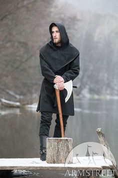 Canvas jacket with hood