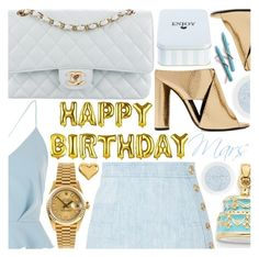 """Happy B-Day Mars!"" by pastelneon ❤ liked on Polyvore featuring River Island, Tom Ford, Chanel, Balmain, Rolex and Kevin Jewelers"
