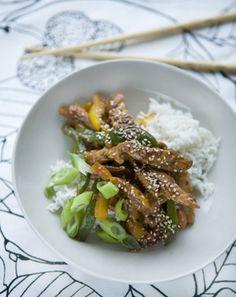 Kylling med peberfrugter og ris  fra Familie Journals Slankeklub