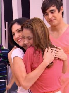 Best friends. I love how Leon looks at them. Because when Violetta's happy, so is he.