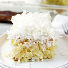 If you love coconut, then you will LOVE this Coconut Cream Poke Cake! It is full of coconut flavor and it is so moist! Perfect for potlucks and summer picnics!
