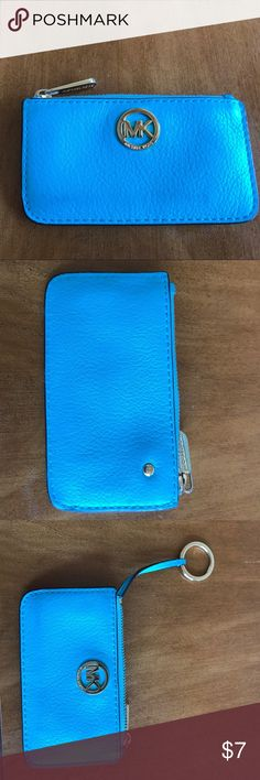Micheal Kors coin purse Blue coin purse with key ring Accessories Key & Card Holders