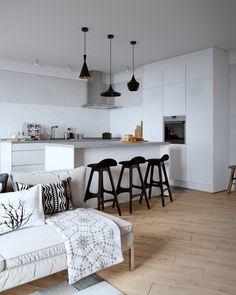 Un appartement sous combles en chêne et gris - PLANETE DECO a homes world