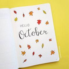 Hello October . . . . . #bulletjournal #bulletjournaling #bujo #bujoaddict #bujobeginner #bujoinspo #bujojunkies #bujobeauty #bujoinspire #nittanybujo #bulletjournalshowcase #showmeyourbulletjournal #planner #showmeyourplanner #leuchtturm1917 #pigmamicron #monthly #monthlyspread #monthlyplanner #october #octoberspread