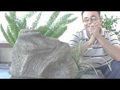 Como fazer uma pedra sonora para jardim - YouTube