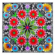 Polish traditional folk art print: http://folkstar.pl/sklep/pl,products,show,765,1,Wycinanka-z-kolorowym-wzorem-kwiatowym---wzor-lowicki.html