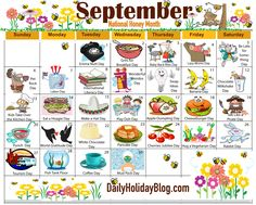 The new free September holiday calendar is available to print! Each month a new calendar of obscure celebrations.