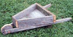 Rustic Barnwood Decorative Wheelbarrow Planter Box--way too cute! Cedar Fence Boards, Cedar Fence Pickets, Wood Fences, Wood Planters, Planter Boxes, Barn Wood Cabinets, Wheelbarrow Planter, Old Lanterns, Barn Wood Crafts