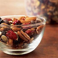 Power Trail Mix  http://www.runnersworld.com/recipes/power-trail-mix
