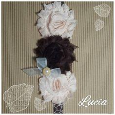 shabby chic headband Lucia