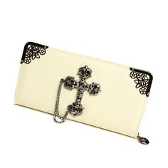 28.80$  Watch now - http://alizlo.worldwells.pw/go.php?t=2055815573 - free  shipping 2015 new fashion women wallets  Human skeleton cross long purse  mobile phone packages for ms