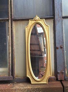 vtg wall mirror gold hollywood regency syroco Hanging #syroco #HollywoodRegency