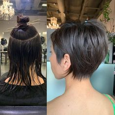 Long Bob Hairstyles 476044623111427565 - Taking the plunge and getting a cut is a hard decision, trust us we know. Going from long, beautiful locks that have unlimited style options, to hair that can barely touch your shoulders is a Source by justicesachs Long To Short Hair, Fat Face Short Hair, Short Hair Girls, Short Hair Hacks, Messy Short Hair, Short Hair Model, Short Straight Hair, Short Prom, Short Hairstyles For Women