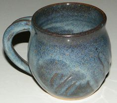 Beautiful Older Mighty River Pottery Blue Glaze Hand Crafted Stoneware Cup Mug | eBay