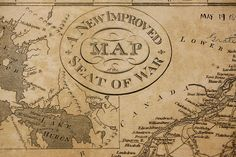 "A detail from an 1817 map, engraved by D. Haines, showing the ""seat of war"" — the vast North American territory in dispute during the War of 1812. (Courtesy of the Harvard Map Collection)"