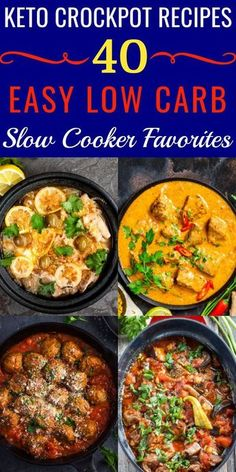 40 Keto Crockpot Recipes For Ketogenic Meal Planning & Weight Loss - 40 Keto Crockpot Recipes! Finding slow cooking keto recipes for dinner just got easier with these 40 ketogenic diet recipes for your crockpot! Keto Crockpot Recipes, Slow Cooker Recipes, Diet Recipes, Healthy Recipes, Crockpot Ideas, Slow Carb Recipes, Ground Beef Keto Recipes, Dessert Recipes, Recipes Dinner