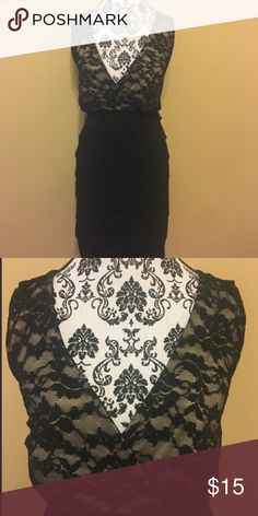 Black/Cream Lace Cocktail Dress Black/Cream Lace Cocktail Dress ~ Made by EnFocus Enfocus Dresses