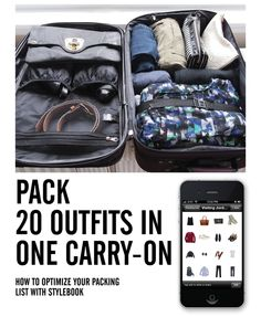 pack 20 outfits in one carry-on
