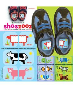 Another great find on #zulily! Educational Shoe Sticker Set #zulilyfinds