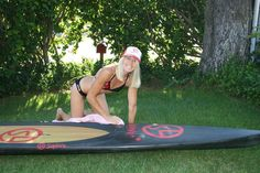 SUP racer Kristin is one of our super heroes. We are not going to reveal her age, just say that we hope we look just as good as she does when we get there!