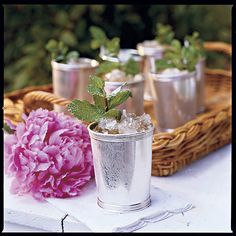 Contrary to popular belief, julep cups aren't just for the Kentucky Derby. They make an elegant vase for floral arrangements, and they're always fun to break out for summer cocktails.