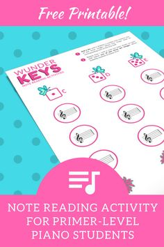 Reinforce beginning note reading with this off-the-bench piano activity!