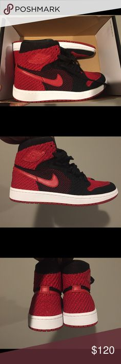 fc659d2f7a4 Air Jordan 1 Black Red Banned Flyknit Bred Sz6.5y Brand new with box size