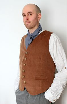 The Gamgee - Custom Men's Hobbit Costume Waistcoat in Brown. £66.00, via Etsy.