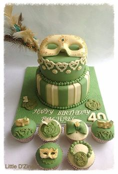 Masquerade cake!  For your mysterious birthday girl
