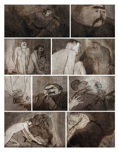 Grafic Novel, Jorge Gonzalez, Animation Storyboard, Arabian Art, Arte Horror, Comic Page, Book Illustration, Comic Books Art, Concept Art