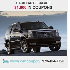 Are you looking for a #brilliant #value in a vehicle?  Well, with this beautiful #CadillacEscalade , you are going to get it.High quality materials , quick acceleration and #amazing #coupons available on this vehicle !! Hurry & #Save Today!  See Us for #Exclusive #Offers www.wowcarcoupon.com!! #wowcarcoupon