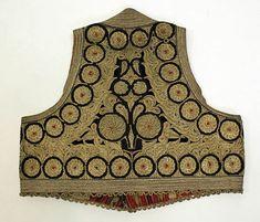 Wedding ensemble, silk, cotton, metallic thread, Albanian