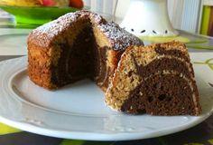 Cocina rápido y con gusto.: Bizcocho mármol de nata, natillas de chocolate y chocolate