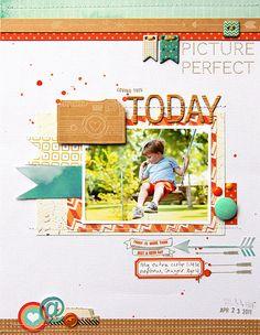 #Papercraft #scrapbook #layout. Today layout & splatter background