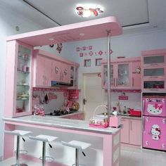 Disney Home Decor, Cute Home Decor, Home Decor Styles, Dream Home Design, House Design, Hello Kitty Kitchen, Kitchen Images, Dream Apartment, Cuisines Design