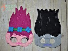 Trolls Masks Poppy Troll Branch Troll Great Party Photo Booth props and favors!