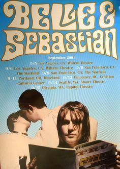 Belle and Sebastian 2 Sided Promo Poster Tour September 2001