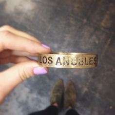 We love this city. ‪#‎losangelescuff‬  http://shop.lovenailtree.com/collections/accessories-bracelets/products/los-angeles-cuff
