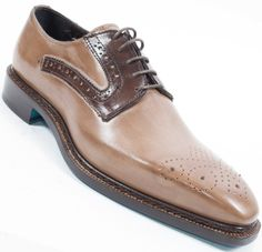 Emilio Franco Tan & Brown Oxford Genuine Calfskin Made In Italy Hot Shoes, Men's Shoes, Shoe Boots, Dress Shoes, Shoes Men, Men Dress, Brogues, Loafers, Brown Oxfords