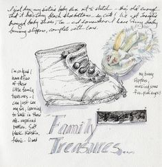 idea for the sketchbook - drawing family treasures: Artists' Journal Workshop