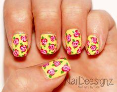 Summer Rose Nail Art .x.  http://naildeesignz.blogspot.co.uk/2015/07/summer-rose-nail-art.html