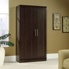 Sauder Homeplus Swing Out Storage Cabinet
