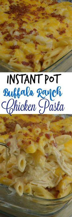 Instant Pot Buffalo Chicken Pasta - Adventures of a Nurse
