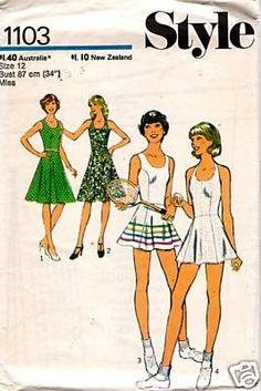 Vintage sewing pattern: 1970s tennis dress | Flickr - Photo Sharing!