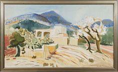 ANITA SNELLMAN  TALO IBIZALLA.  Sign. -64. Öljy kankaalle 89x152 cm. Ibiza, Modern Art, Finland, Painting, Design, Painting Art, Paintings, Contemporary Art