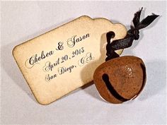 Rusted Jingle Bell Wedding Favor Or Place Card With By Ey 2 25