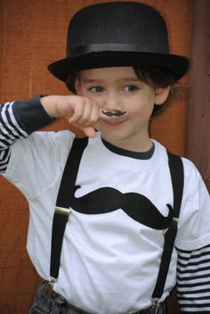 Moustache kids t-shirt by Once upon a Story